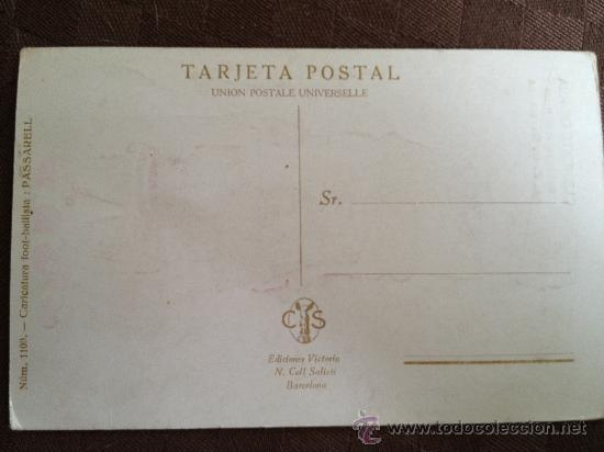 Coleccionismo deportivo: postal del futbol club f.c barcelona fc barça cf jugador clemente gracia ver fotos - Foto 2 - 37394308