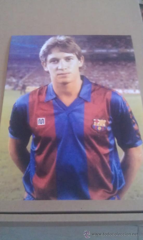 FOTO DE LINEKER CON EL BARCELONA - GOLY (Coleccionismo Deportivo - Postales de Deportes - Fútbol)