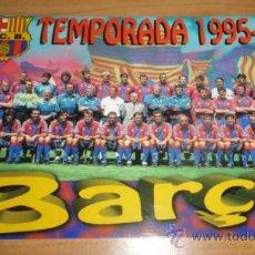 Coleccionismo deportivo: POSTAL FC BARCELONA PLANTILLA 1995 1996. Lote 37549119