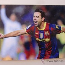 Coleccionismo deportivo: POSTAL POST CARD F C BARCELONA BARÇA XAVI HERNANDEZ. Lote 37587993
