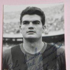 Coleccionismo deportivo: ANTIGUA FOTOGRAFIA DEL JUGADOR DEL FUTBOL CLUB BARCELONA, ENRIC GENSANA MEROLA, CON DEDICATORIA Y FI. Lote 37843411