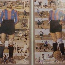 Coleccionismo deportivo: FOTO JOSEP ESCOLÁ Y MARIANO MARTIN-F.C.BARCELONA-(18 X 24 CM)-FICHA PAPEL POSTAL GRAN ÀLBUM BARÇA. . Lote 37885159