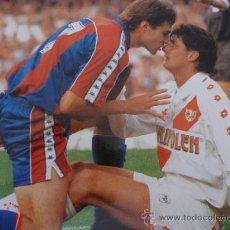 Coleccionismo deportivo: FOTO SALINAS (1988-1994)-F.C.BARCELONA-(18 X 24 CM)-FICHA PAPEL POSTAL GRAN ÀLBUM BARÇA.. Lote 37885208