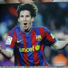 Coleccionismo deportivo: POSTAL F C BARCELONA BARÇA LEO MESSI. Lote 38153506