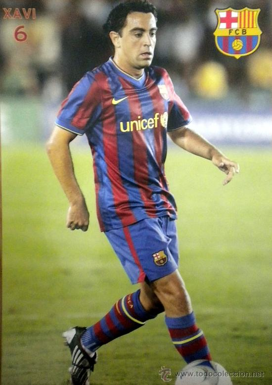 POSTAL F.C. BARCELONA POST CARD FOOTBALL XAVI HERNANDEZ (Coleccionismo Deportivo - Postales de Deportes - Fútbol)