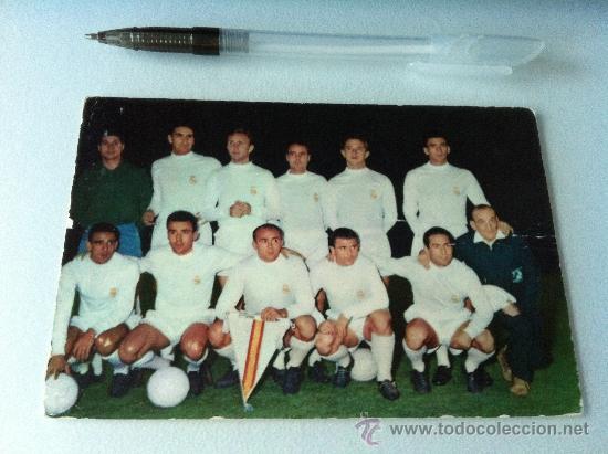 ANTIGUA POSTAL ORIGINAL DE LOS 50. REAL MADRID. ESCRITA Y BORRADA POR ATRÁS (Coleccionismo Deportivo - Postales de Deportes - Fútbol)