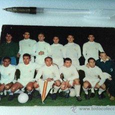 Coleccionismo deportivo: ANTIGUA POSTAL ORIGINAL DE LOS 50. REAL MADRID. ESCRITA Y BORRADA POR ATRÁS. Lote 38823476