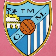 Coleccionismo deportivo: POSTAL / CROMO - ESCUDO CLUB DEPORTIVO MALAGA - CARTULINA - ALTURA 16 CM.- AÑOS 70 / 80 - RD27. Lote 39695781