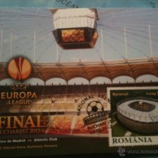 Coleccionismo deportivo: POSTAL FINAL UEFA EUROPA LEAGUE ATLETICO MADRID ATHLETIC BILBAO BUCAREST. Lote 54664282