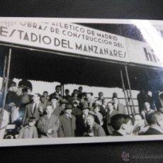 Coleccionismo deportivo: AÑO 1965 - FOTOGRAFÍA OBRAS DEL ESTADIO DEL MANZANARES VICENTE CALDERÓN ATLÉTICO DE MADRID FÚTBOL. Lote 40181392