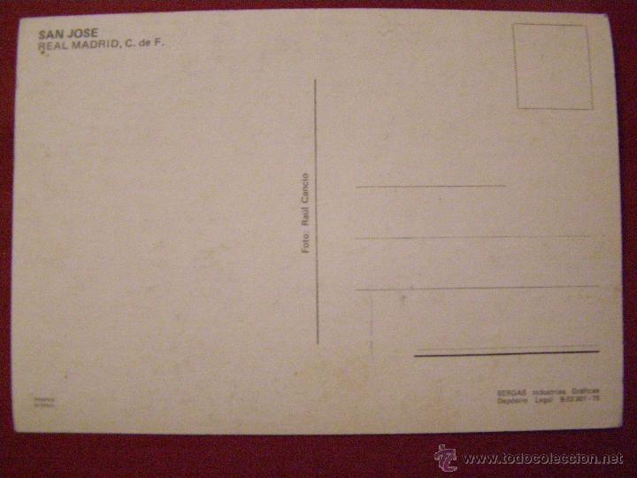 Coleccionismo deportivo: San José - Jugador del Real Madrid - Postal - - Foto 2 - 40333888