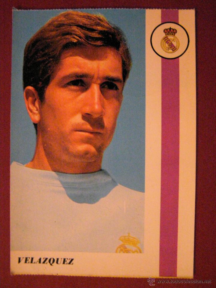 MANUEL VELÁZQUEZ VILLAVERDE - JUGADOR REAL MADRID - POSTAL - (Coleccionismo Deportivo - Postales de Deportes - Fútbol)