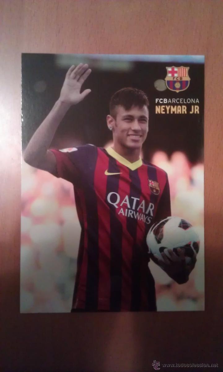 POSTAL DE NEYMAR CON EL BARCELONA - GOLY (Coleccionismo Deportivo - Postales de Deportes - Fútbol)
