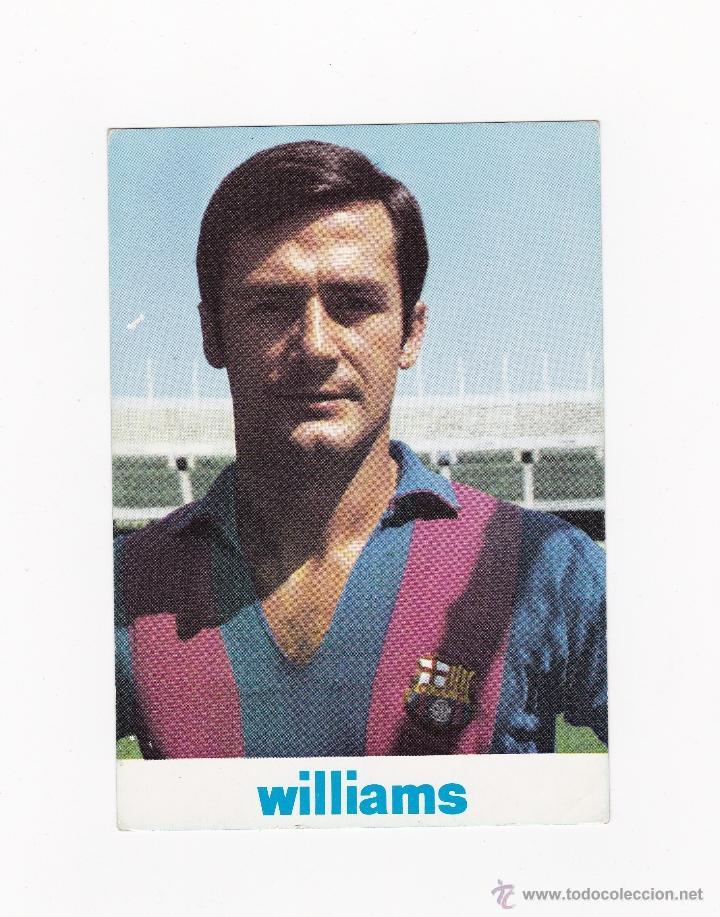 POSTAL 10.5 X 15 CM. - ANTONIO TORRES (BARCELONA) AÑOS 60-70'S PUBLICIDAD WILLIAMS (Coleccionismo Deportivo - Postales de Deportes - Fútbol)