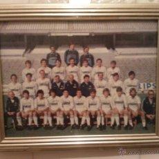 Coleccionismo deportivo: CUADRO CON POSTAL REAL MADRID 24X19CM APROX. TEMP-83-84(MAS 5 EUROS GASTOS ENVIO) VER FOTOS. Lote 41099716