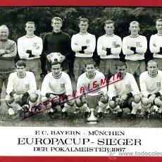 Coleccionismo deportivo: POSTAL FUTBOL, BAYERN MUNICH MUNCHEN , CAMPEON COPA 1967 CON AUTOGRAFOS , ORIGINAL , P92400C. Lote 41142197