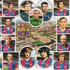 Coleccionismo deportivo: POSTAL DE LA PLANTILLA DEL F. C. BARCELONA, JUGADORES Y CAMPO. BARÇA. AÑOS 70. Lote 41225040