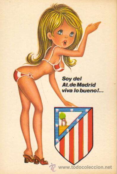 POSTAL DE FUTBOL - DEL ATLETICO DE MADRID - COLCHONEROS 1972 - POSTALES VIKINGO 208-1 (Coleccionismo Deportivo - Postales de Deportes - Fútbol)
