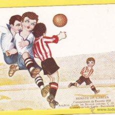 Coleccionismo deportivo: REMATE DE CABEZA. FÚTBOL CAMPEONATO DE ESPAÑA 1923. A. CLUB DE BILBAO CONTRA C.D. EUROPA. BARCELONA.. Lote 41852814