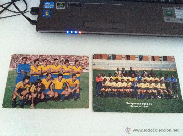 LOTE DE DOS POSTALES DEL CADIZ C.F. TEMPORADAS 76/77 Y 80/81. (Coleccionismo Deportivo - Postales de Deportes - Fútbol)