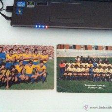 Coleccionismo deportivo: LOTE DE DOS POSTALES DEL CADIZ C.F. TEMPORADAS 76/77 Y 80/81.. Lote 41947935