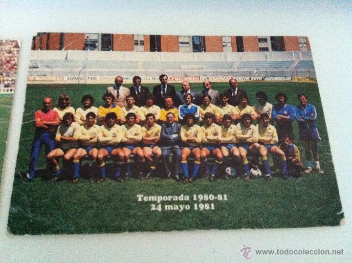 Coleccionismo deportivo: LOTE DE DOS POSTALES DEL CADIZ C.F. TEMPORADAS 76/77 Y 80/81. - Foto 2 - 41947935