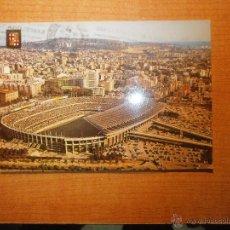 Coleccionismo deportivo: POSTAL BARCELONA ESTADIO DEL CLUB DE FUTBOL BARCELONA VISTA AEREA CIRCULADA. Lote 42232983