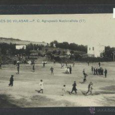 Coleccionismo deportivo: CAMPO DE FUTBOL - SAN GINES VILASAR-F.C. AGRUPACIO NACIONALISTA - FOTOGRAFICA - (2780). Lote 42329715