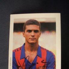 Coleccionismo deportivo: POSTAL F.C. BARCELONA - GUILLERMO AMOR CON AUTOGRAFO ORIGINAL -. Lote 42368352