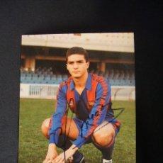 Coleccionismo deportivo: POSTAL F.C. BARCELONA - GUILLERMO AMOR CON AUTOGRAFO ORIGINAL -. Lote 42368381