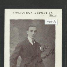 Coleccionismo deportivo: ANTONIO ALCAZAR - FUTBOL - POSTAL BIBLIOTECA DEPORTIVA - (2923). Lote 42408881