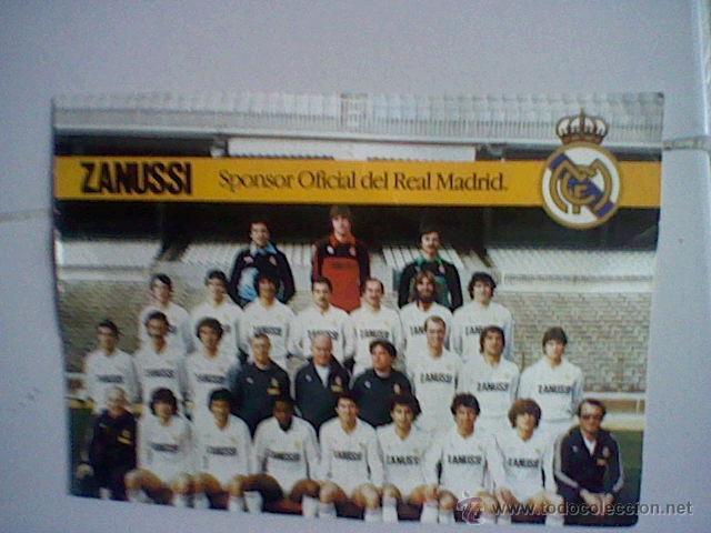 ALINEACION REAL MADRID TEMPORADA 82 83 LAMINA TAMAÑO POSTAL PUBLICIDAD ZANUSSI (B25) (Coleccionismo Deportivo - Postales de Deportes - Fútbol)