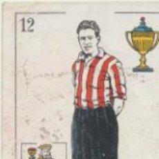 Coleccionismo deportivo: BARAJA DE FUTBOL AMATLLER. 12 DE COPA. CARMELO (ATLETIC BILBAO). Lote 43581094