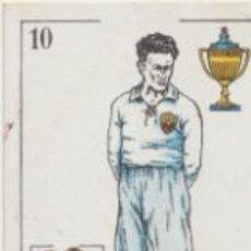 Coleccionismo deportivo: BARAJA DE FUTBOL AMATLLER. 10 DE COPA. SPENCER (SEVILLA F.C.) . Lote 43581129