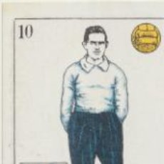Coleccionismo deportivo: BARAJA DE FUTBOL AMATLLER. 10 DE ORO. VIDAL (ATLETIC BILBAO). Lote 43581244