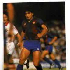 Collectionnisme sportif: FOTO PEGATINA FUTBOL MARADONA FC BARCELONA CAMP NOU. ANTIGUA FOOTBALL VINTAGE. Lote 44106084