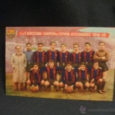 Coleccionismo deportivo: SERIE DE 17 POSTALES - C.F. BARCELONA - BODAS DE ORO - CAMPEON DE LIGA, CAMPEON AFICIONADOS - . Lote 44414626