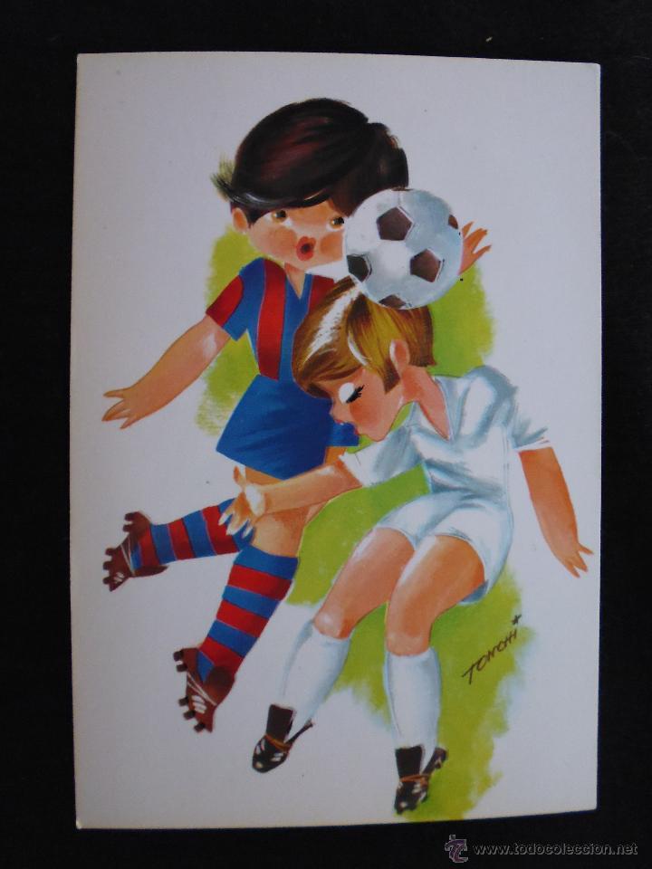 POSTAL NIÑOS JUGADOR DEL FUTBOL CLUB FC BARCELONA F.C BARÇA CF (Coleccionismo Deportivo - Postales de Deportes - Fútbol)