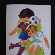 Coleccionismo deportivo: POSTAL NIÑOS JUGADOR DEL FUTBOL CLUB FC BARCELONA F.C BARÇA CF. Lote 44700212