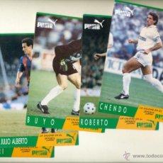 Coleccionismo deportivo: 5 POSTALES FUTBOL - CHENDO BUYO RUGGERI ROBERTO JULIO ALBERTO PUMA. Lote 160055186
