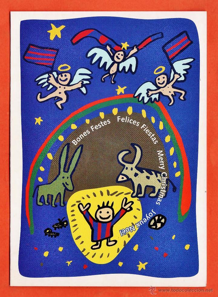 Felicitaciones De Navidad Del Fc Barcelona.Postal Navidad Felicitacion Fc Barcelona Barca Il Mariscal Ed Sport Nuevas Ano 1993