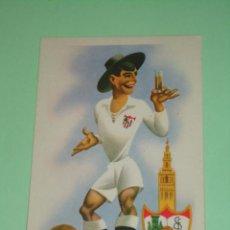 Coleccionismo deportivo: POSTAL CARICATURA DEL SEVILLA C.F.. ES ANTIGUA. Lote 45636523