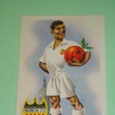 Coleccionismo deportivo: POSTAL CARICATURA DEL VALENCIA C.F.. ES ANTIGUA. Lote 45636538