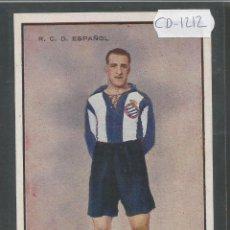 Coleccionismo deportivo: CANALS - JUGADOR R.C.D. ESPAÑOL - (CD-1212). Lote 45760519