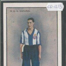 Coleccionismo deportivo: MONTESINOS - JUGADOR R.C.D. ESPAÑOL - (CD-1213). Lote 45760526