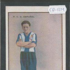 Coleccionismo deportivo: OLARIAGA - JUGADOR R.C.D. ESPAÑOL - (CD-1214). Lote 45760533