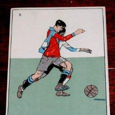 Coleccionismo deportivo: POSTAL DE FUTBOL Nº 8 PUBLICIDAD DE NEURODINA, BESOY, FARMACIA, AÑOS 20 . Lote 45924394