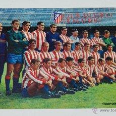 Collezionismo sportivo: CLUB ATLETICO DE MADRID, FOTOGRAFIA DE LA PLANTILLA TEMPORADA 1967 / 68, MIDE 17,2 X 11,5 CMS.. Lote 45924428