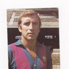 Coleccionismo deportivo: POSTAL FUTBOL TAMAÑO 10.5X15 CM. - CHARLIE REXACH (FC BARCELONA) AÑOS 60 PUBLICIDAD WILLIAMS. Lote 46219723