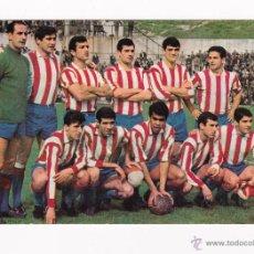 Coleccionismo deportivo: POSTAL ORIGINAL AÑOS 60 ALINEACION ATLETICO MADRID - TAMAÑO 15 X 10.5 CM - . Lote 46612573